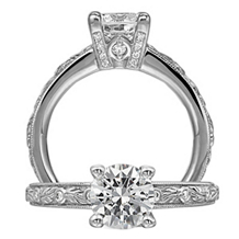 Ritani Romantique Solitaire Diamond Engagement Ring