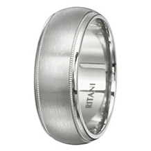 Handsome Mens Classic Ritani Wedding Band