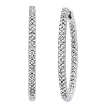 2 Carat 47mm Hoop Earrings 14k White Gold