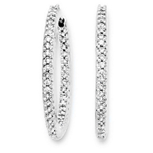 29mm 1 Carat Diamond Hoop Earrings