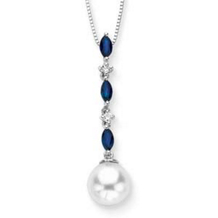 Exquisite Pearl And Diamond Pendant