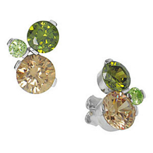 Belle Etoile Tres Chic Color Stone Earrings