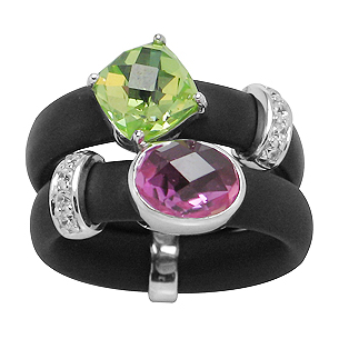 Belle Etoile Venezia Rubber Collection Ring