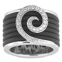 Belle Etoile Swirl Rubber Collection Ring