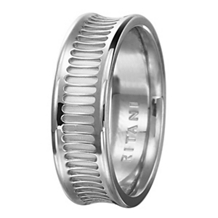 Modern Design Ritani Mens Platinum Wedding Band