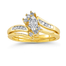 Marquise Diamond Engagement Ring in 10k Yellow Gold