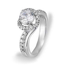 Simon G Stunning Diamond Engagement Ring