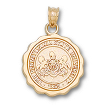 Gold Plated Penn State Seal Charm