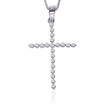 1/2 Carat Diamond Cross Pendant 14k WG