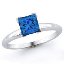 Lovely 1 Carat Blue Diamond Solitaire
