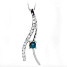 Blue Diamond Fashion Pendant