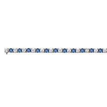 Eye Catching Blue Diamond Bracelet