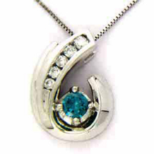 1/3 Carat Blue Diamond Fashion Pendant