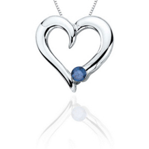 .10 Carat Blue Diamond Solitare Heart Pendant