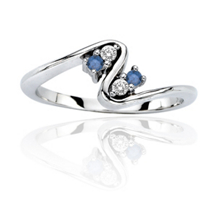 .12 Carat Total Weight Blue Diamond Fashion Ring