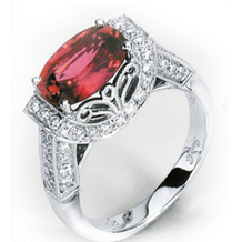 Simon G Oval Rubellite Ring