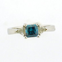 Elegant Blue Diamond Engagement Ring