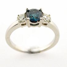Gorgeous Blue Diamond Engagement Ring