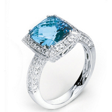 Alluring Aquamarine Ring by Simon G