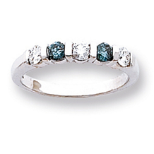 1/2 Carat Total Weight Blue Diamond Ring
