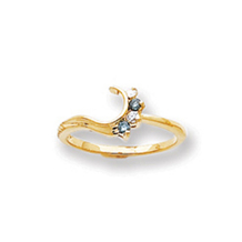 Elegant Blue Diamond Ring Wrap 14k Yellow Gold