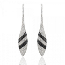 Simon G Black and White Diamond Drop Earrings