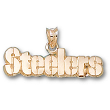 10K Yellow Gold 1/4 Inch Pittsburgh Steelers Charm
