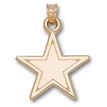 10k Yellow Gold Dallas Cowboys 3/4 inch Charm