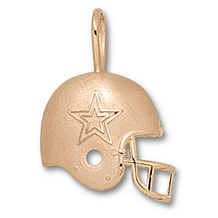 14k Yellow Gold Dallas Cowboys Helmet Charm