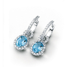 Gorgeous Simon G  Aquamarine Dangle Earrings