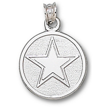 Sterling Silver Dallas Cowboys Round Logo Charm