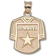 10k Yellow Gold Dallas Cowboys Jersey Charm