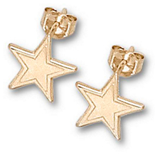 14k Yellow Gold Dallas Cowboys Star Post Earrings