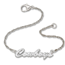 Sterling Silver Dallas Cowboys Script Bracelet