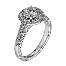 Scott Kay Bezel Set Vintage Engagement Ring