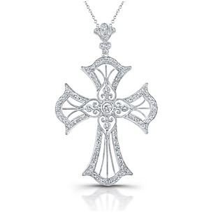 Holy Embrace 1/3 Carat Diamond Cross Pendant