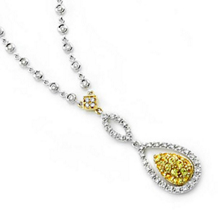Stately Empire Yellow Sapphire and Diamond Necklace
