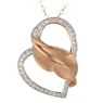 Amour 1/2 Carat Diamond Heart Necklace