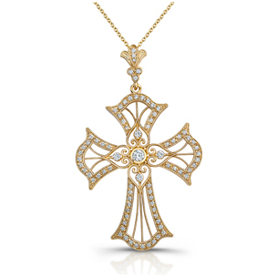 Holy Embrace 1/3 Ct. Diamond Cross Pendant
