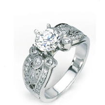 Beautiful Platinum Engagement Ring by Simon G