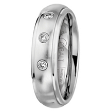 SK Cobalt Prime Collection BioBlu Mens Diamond Band