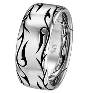 Scott Kay Sparta Collection Engraved Mens Band