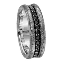 Scott Kay BC Collection Band with Black Diamonds