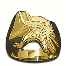 Mens Minnesota Vikings Logo Ring 14k Yellow Gold