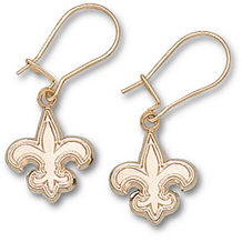 14k New Orleans Saints 1/2 Inch Logo Dangle Earrings