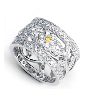 Simon G Diamond Flower Ring