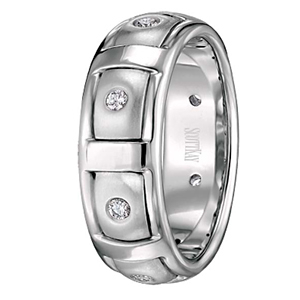 Scott Kay Diamond Wedding Band Gothic Collection