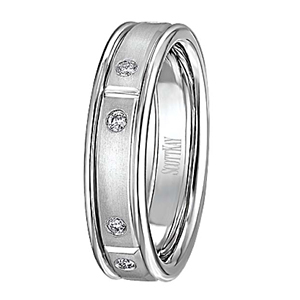 Scott Kay Javlin Diamond Mens Wedding Band