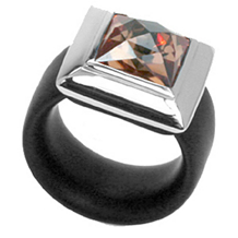 Belle Etoile Rebel Rubber Collection Ring