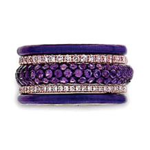 Hidalgo Purple Designer Fashion Ring